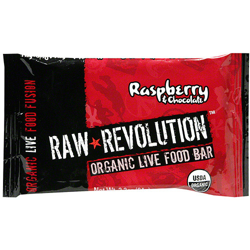 Raw Revolution Organic Live Raspberry & Chocolate Food Bars, 1.8 oz (Pack of 12)