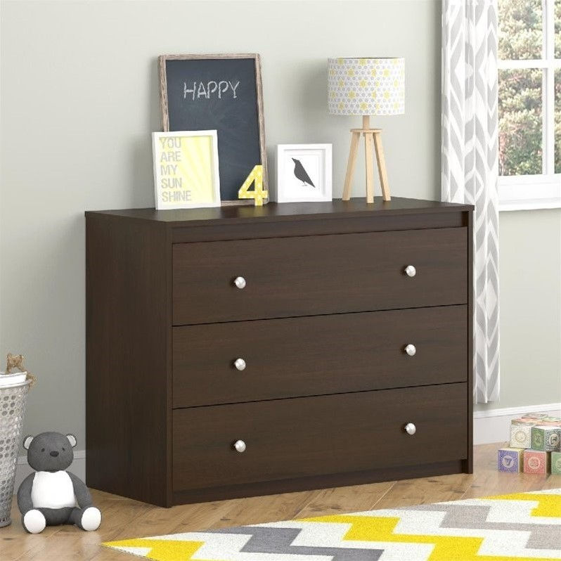 **DNP** Cosco Elements 3-Drawer Dresser, Resort Cherry-COMPONENT