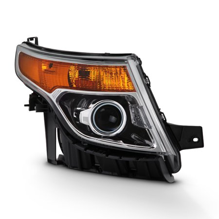 - Fits 2011-2015 Ford Explorer Chrome Right Pasenger One Side Projector Headlight