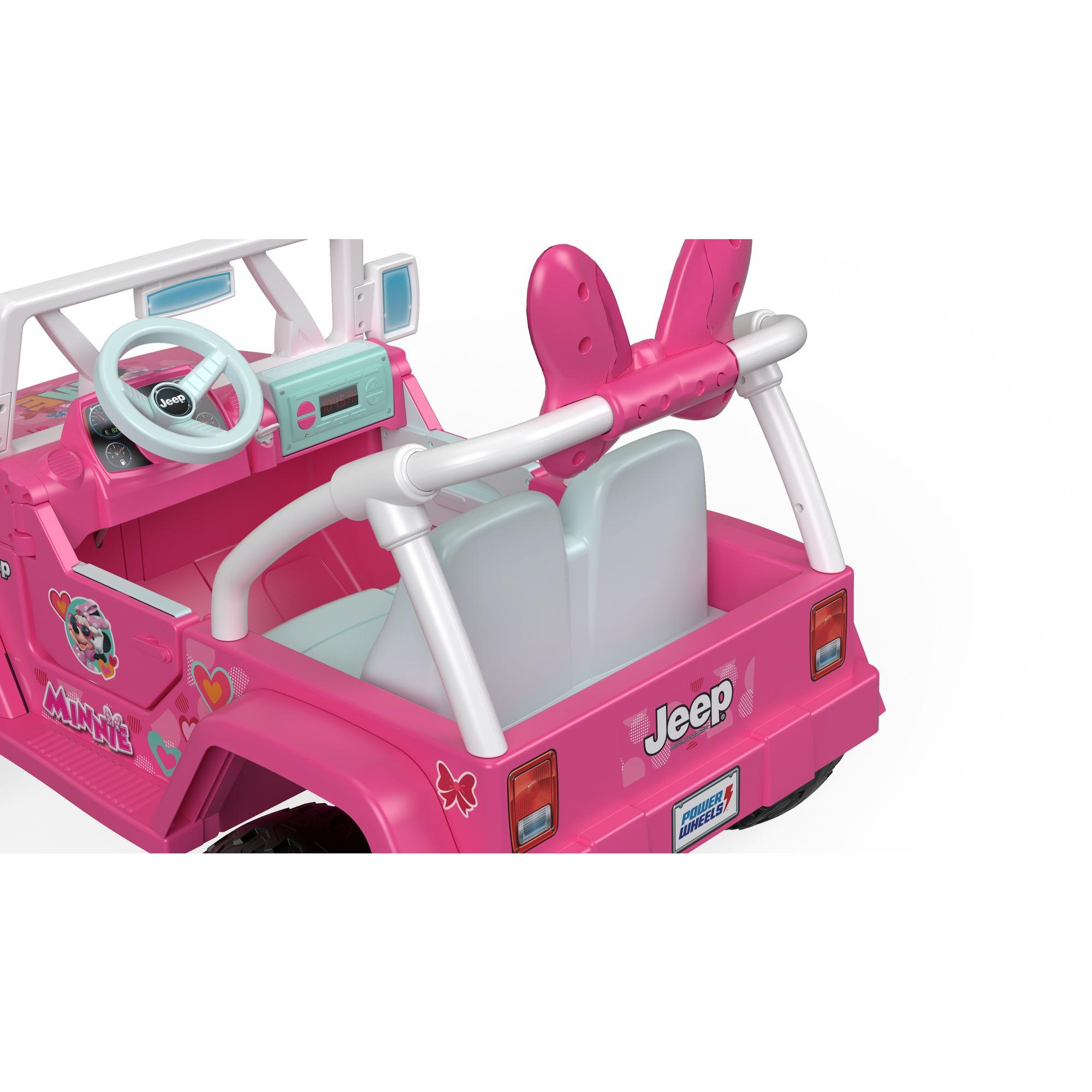 1c8e9509b0f7a Girls Electric Car Power Wheels Disney Minnie Mouse Happy Helpers ...
