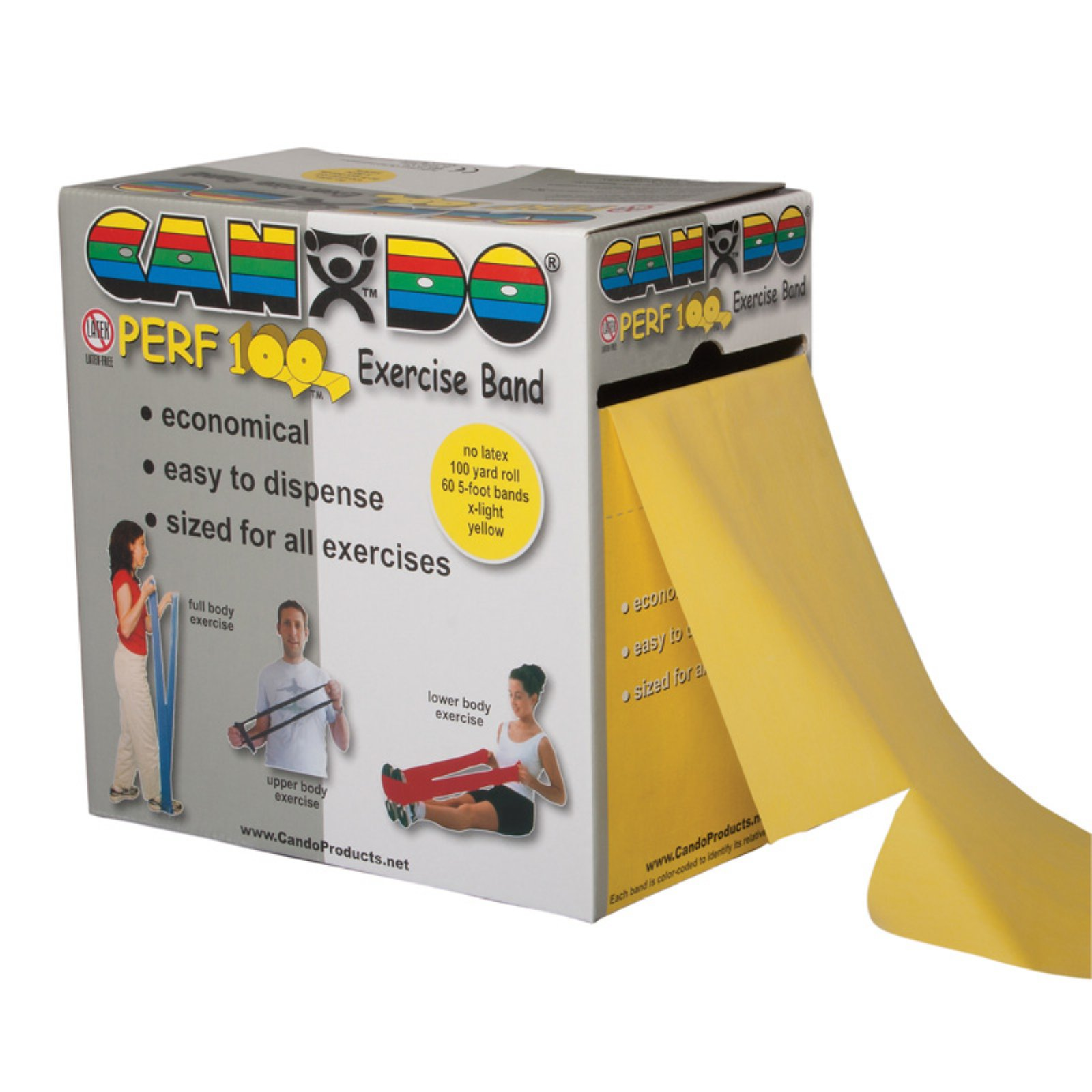 CanDo Perforated Latex Free Fitness Exercise Band