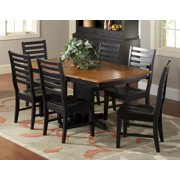 Attleboro Pedestal Dining Table in Harvest and Black Finish