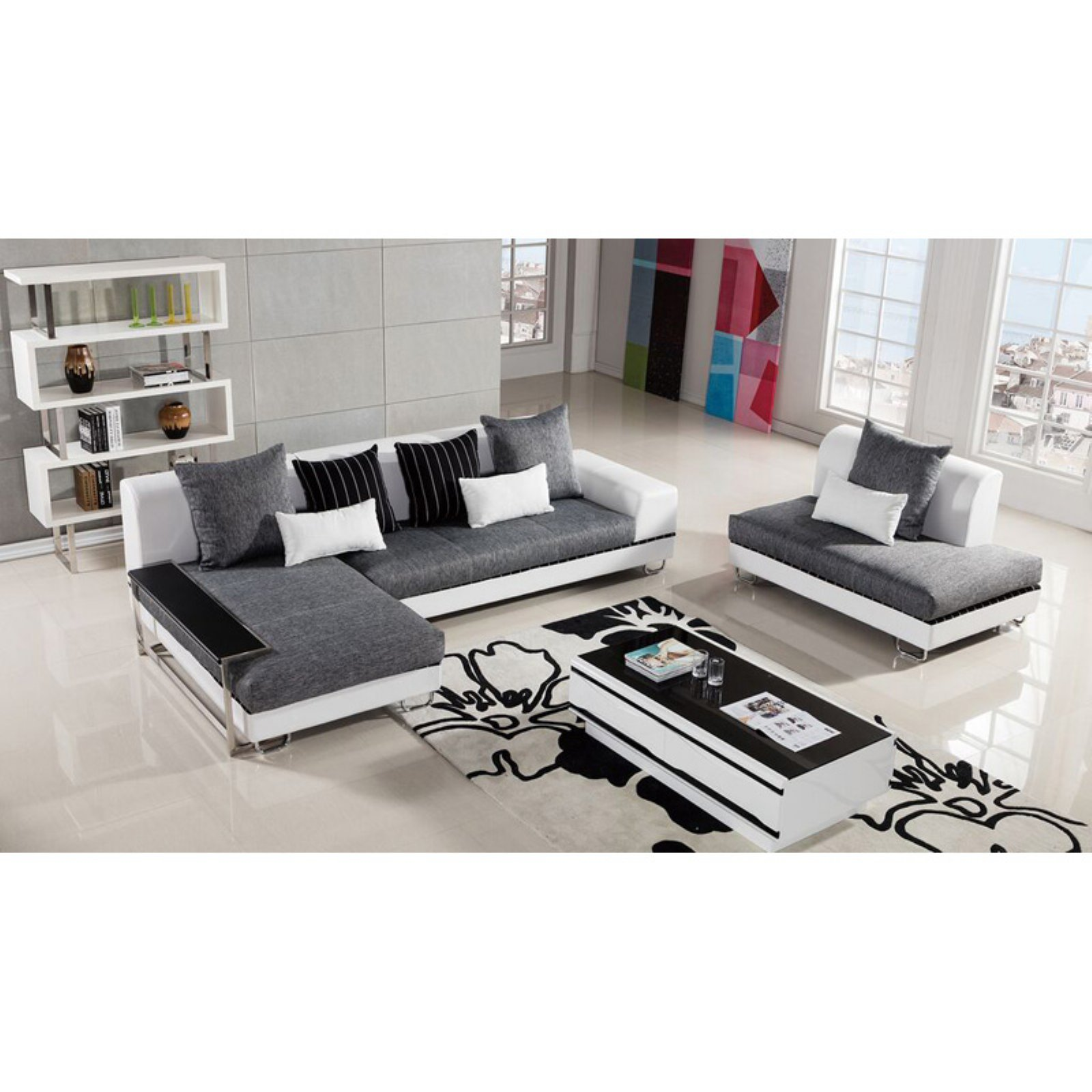 American Eagle Furniture Portland Upholstered Sectional Sofa with Chaise