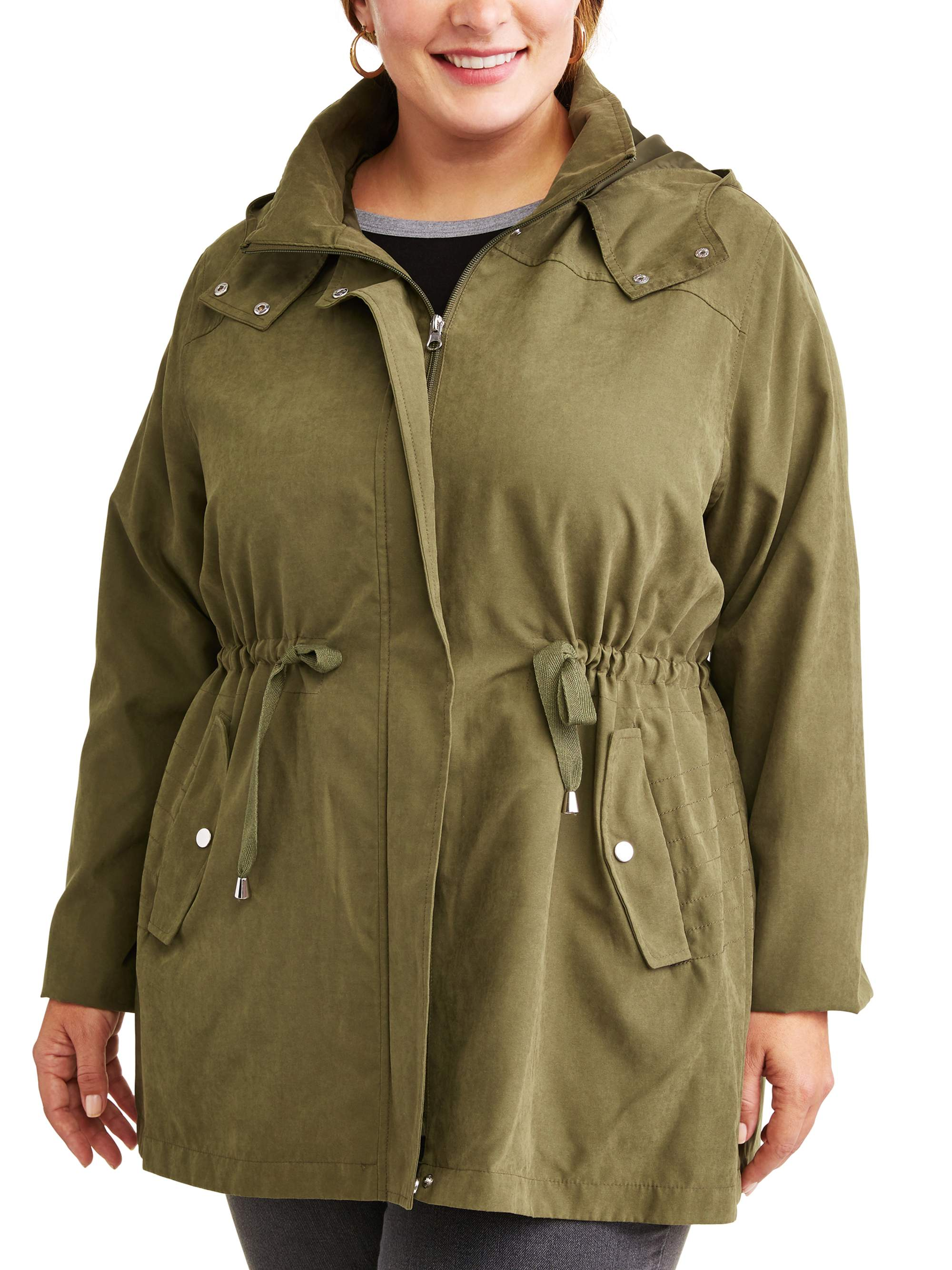 6af05768183 Time and Tru Women s Plus-Size Hooded Anorak Utility Jacket ...
