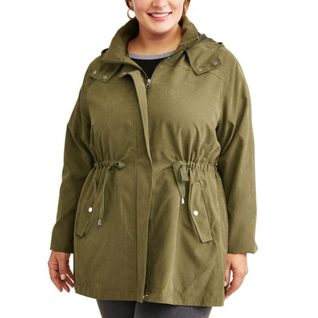 8db58fbac45 Time and Tru - Time and Tru Women s Plus-Size Hooded Anorak Utility Jacket  - Walmart.com