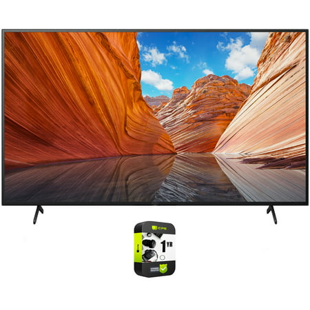 Sony KD55X80J 55 inch X80J 4K Ultra HD LED Smart TV 2021 Model Bundle with 1 Year Extended Protection Plan