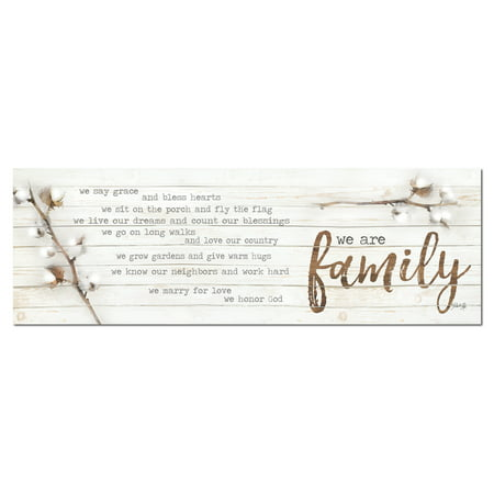 Family Poster Print (Gango Home Decor Country-Rustic We are Family by Marla Rae (Printed on Paper); One 18x6in Unframed Paper Poster )
