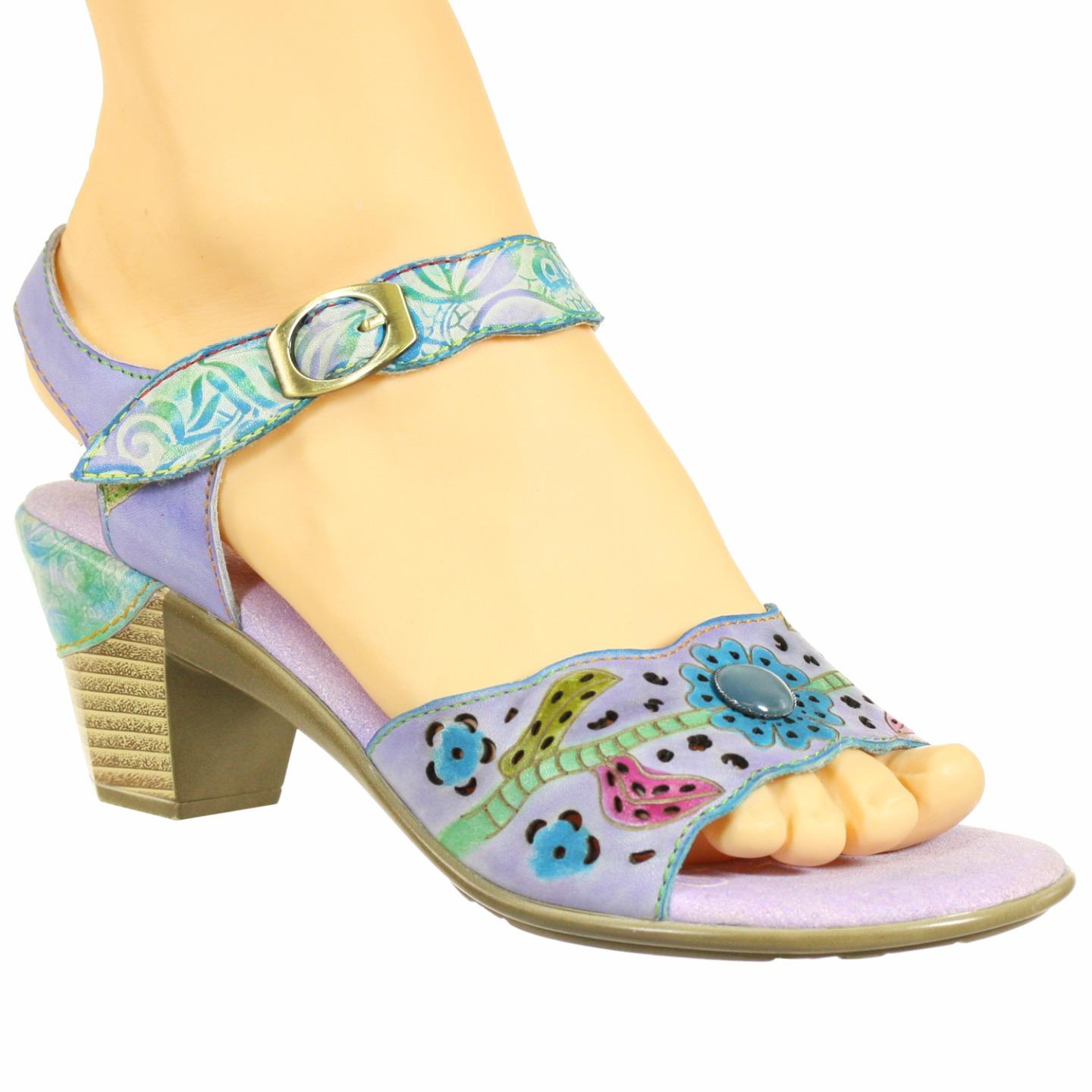 Spring Step L'Artiste Collection Isobel Women's Sandals Lilac Multi EU 37 US 7 by Spring Step