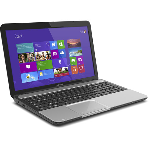 """Toshiba Mercury Silver 15.6"""" L855-S5366 Laptop PC with Intel Core i5-3210M Processor and Windows 8 Operating System"""