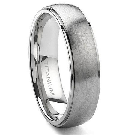 Titanium 6mm Satin Finish Wedding Band Ring Sz - Satin Finish Titanium Ring