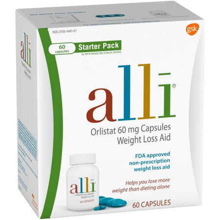 Image of Alli ® Capsules Starter Pack Weight Loss Aid Capsules 60 ct Box