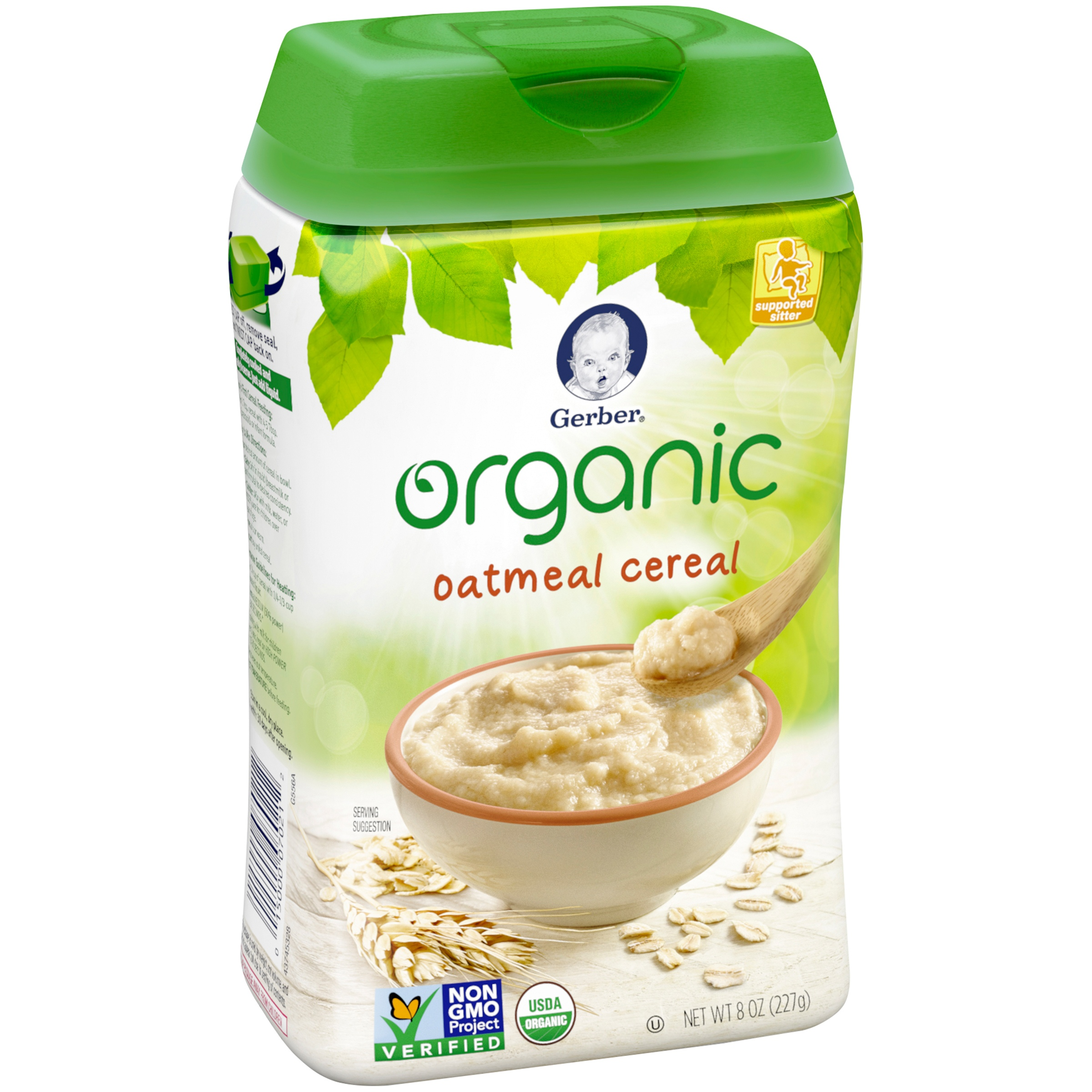 Organic cereal for infants