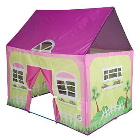 "Pacific Play Tents Kids Cottage Play House Tent Playhouse for Indoor / Outdoor Fun - 50"" x 40"" x 50"""