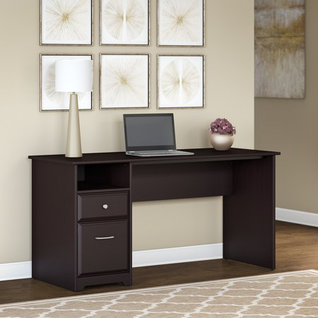 Bush Furniture Cabot 60W Computer Desk with Drawers in Espresso Oak Bush Furniture Oak Desk