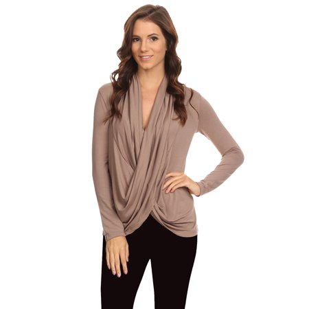 Women's Long Sleeve Criss Cross Cardigan Small to 3XL Athleisure Made in