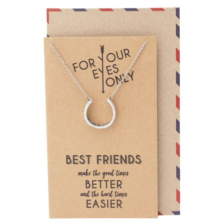 Best Friend Necklaces, Best Gifts for Best Friend with Greeting