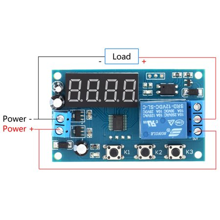 Multifunction Delay Time Module Switch Control Relay Cycle Timer DC 12V - image 6 of 7
