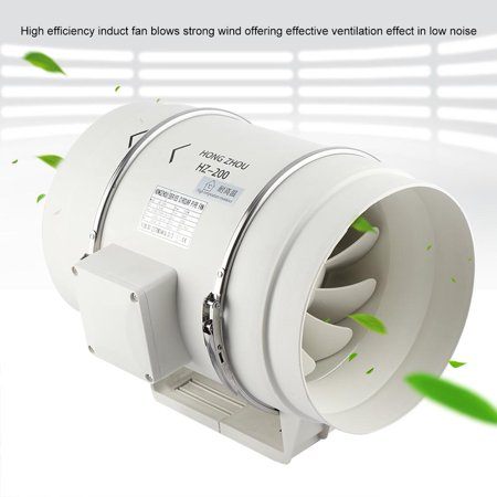 Yosoo Inline Exhaust Ventilation Fan,High Efficiency Inline Duct Fan Air Extractor Bathroom Kitchen Ventilation System 110V US Plug,Ventilation Fan,Inline Ventilation Fan (Air Extractor)