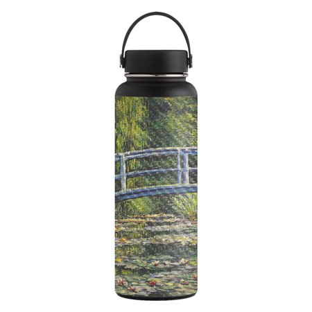 Carbon Fiber Skin for Hydro Flask 40 oz. Wide Mouth sticker White Water Lilies