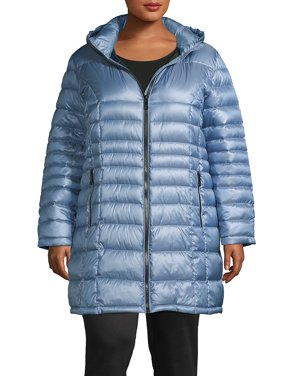 Plus Hooded Packable Puffer Coat