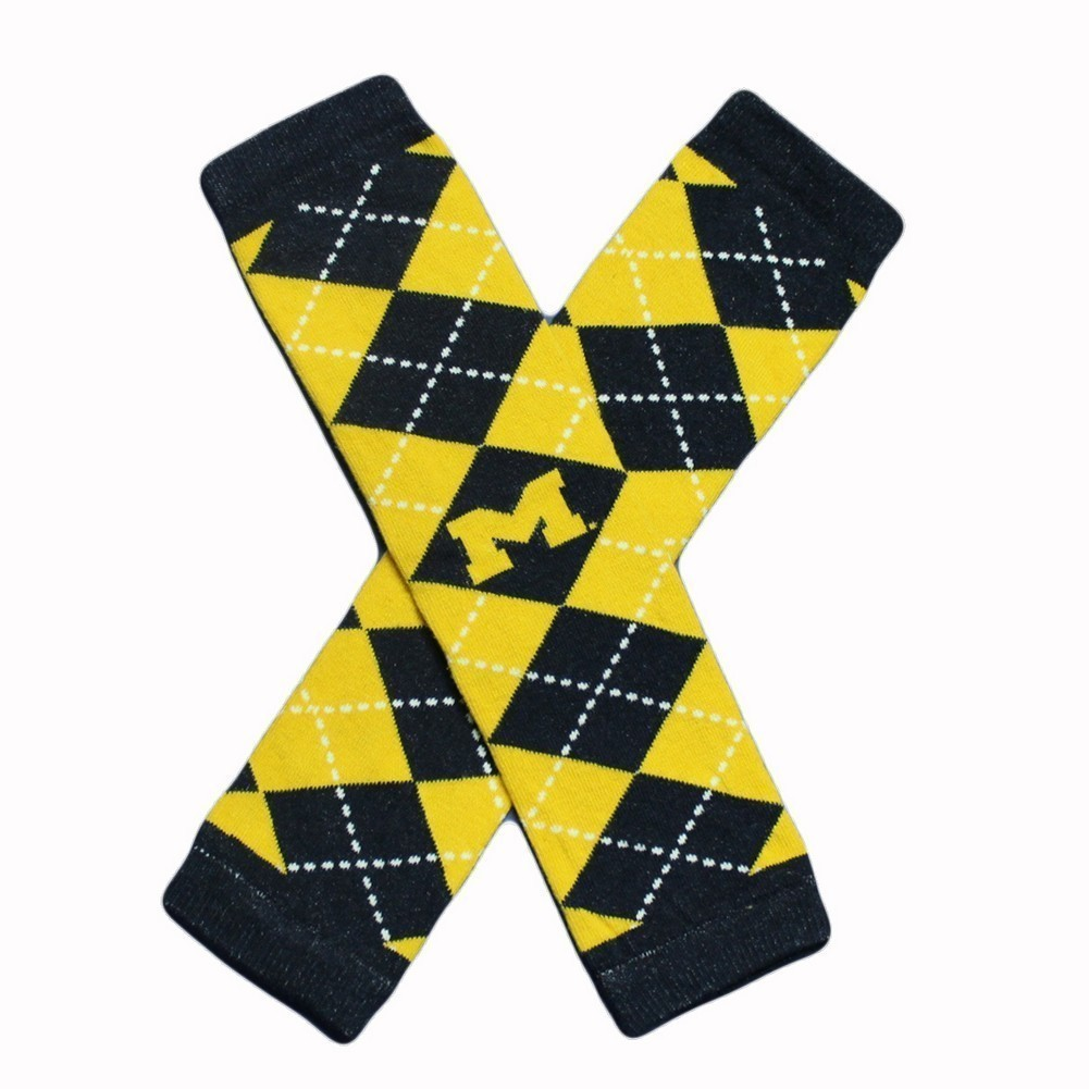 Little Big Fan Univ Of Michigan Arm & Leg Warmers - Argyle