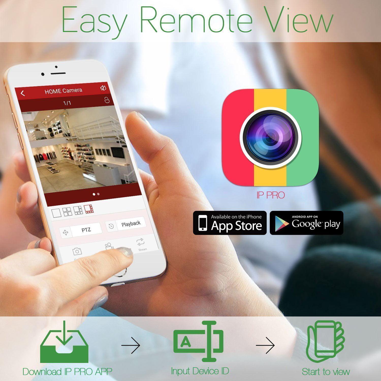 AKASO Wifi/Wireless Security Camera System Video Surveillance CCTV NVR  Kits, 4CH 720P(1280 x 720), Auto-Pairing, Plug&Play, 65ft Night Vision,  P2P,