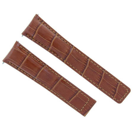 22MM LEATHER WATCH STRAP BAND FOR TAG HEUER GRAND CARRERA MONACO CALIBRE TAN (Tag Heuer Carrera Monaco Grand Prix Price)