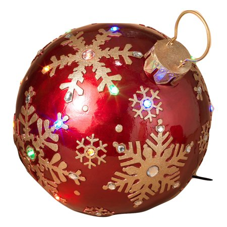 1625 giant resin red gold christmas lights ornament gems yard lawn decoration - Walmart Christmas Lawn Decorations