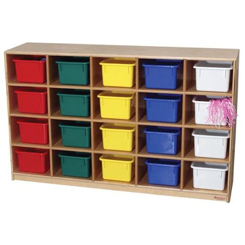 Wood Designs 14503 - 20-Tray Storage Cabinet With Assorted Color Trays