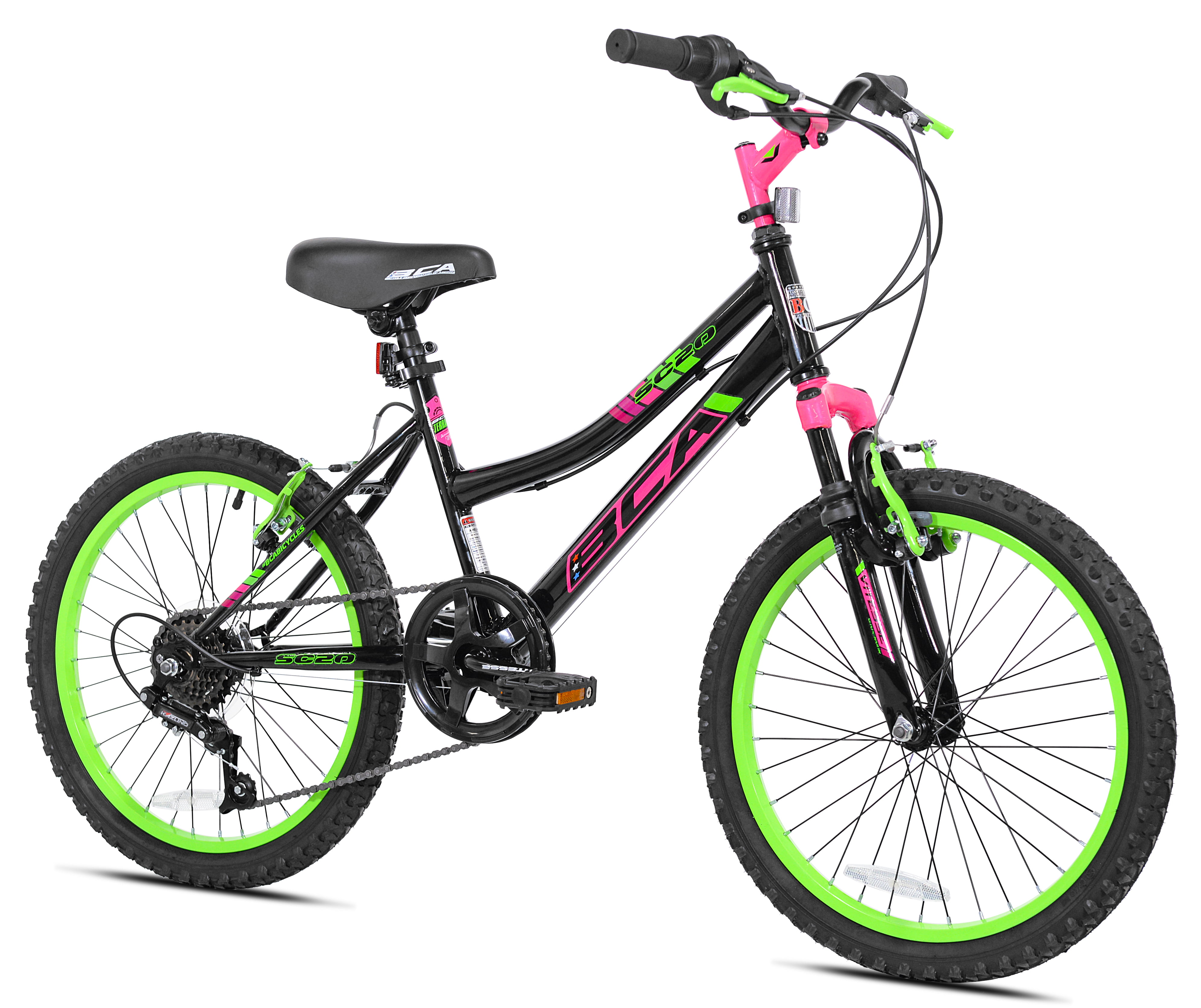 "BCA 20"" SC20 Girl's Bike, Black/Green, For Height Sizes 4'2"" and Up"