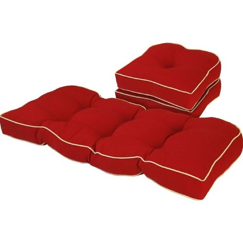 Bay Isle Home Solid Gussett Outdoor 3 Piece Loveseat/Sofa Seat Cushion