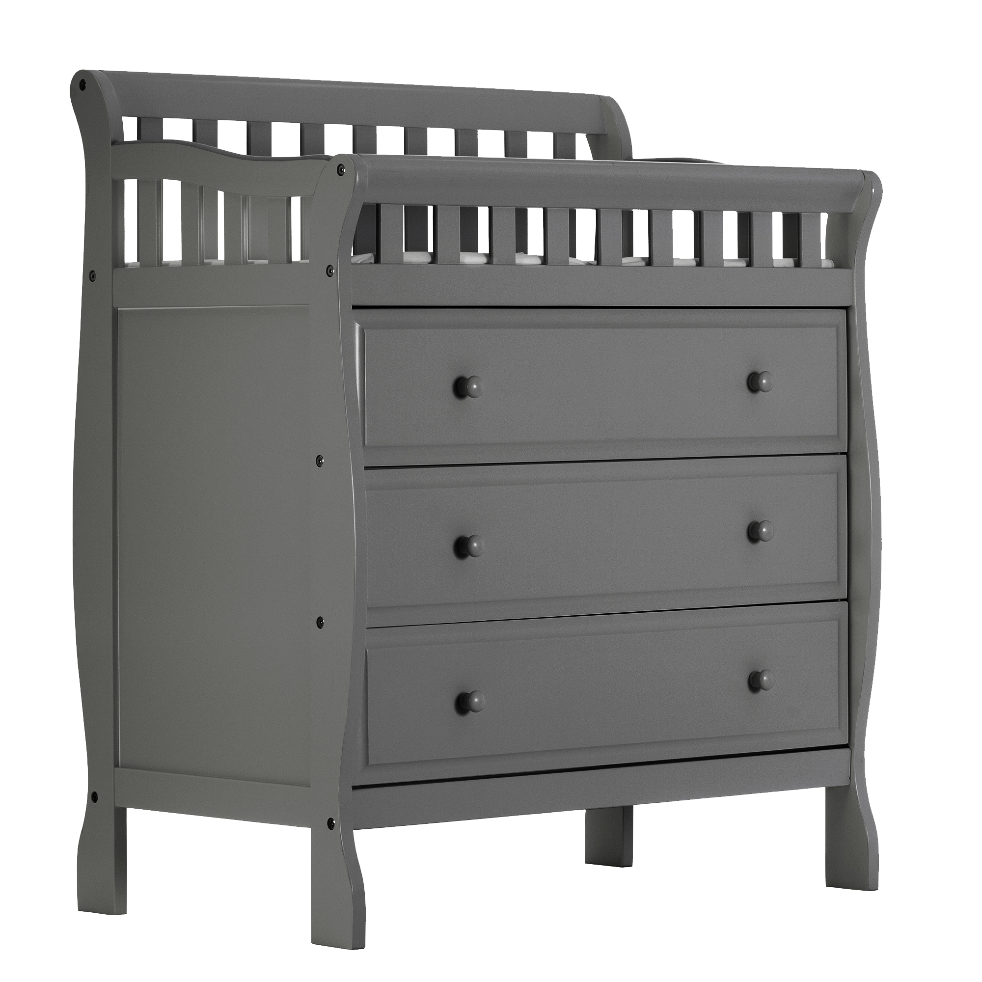 Superbe Dream On Me Marcus Changing Table And Dresser, Storm Gray