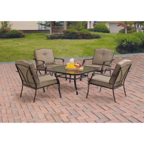 Mainstays Maddison Heights 5-Piece Chat Set, Brown