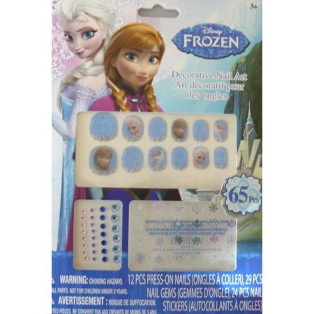 Frozen Makeup (Frozen Decorative Nail Art)