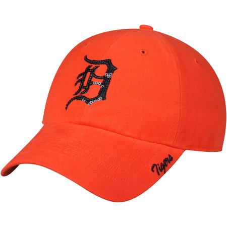 Detroit Tigers Metal - Women's Fan Favorite Orange Detroit Tigers Sparkle Adjustable Hat - OSFA
