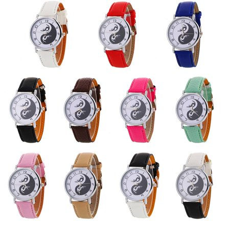 outdoorline Chinese Yin Yang Harmony Round Dial Quartz Watch Alloy Analog Wristwatch Hand Accessory Gift - image 2 de 9
