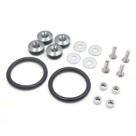 Titanium Tone Quick Release Car Bumper Trunk Fender Hatch Lid Fastener Kit