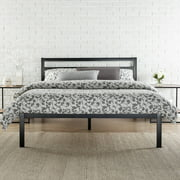 modern studio 14 metal platform bed with headboard multiple sizes - Queen Size Bed Frame With Headboard