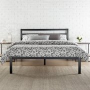 modern studio 14 metal platform bed with headboard multiple sizes - Metal Bed Frame With Headboard