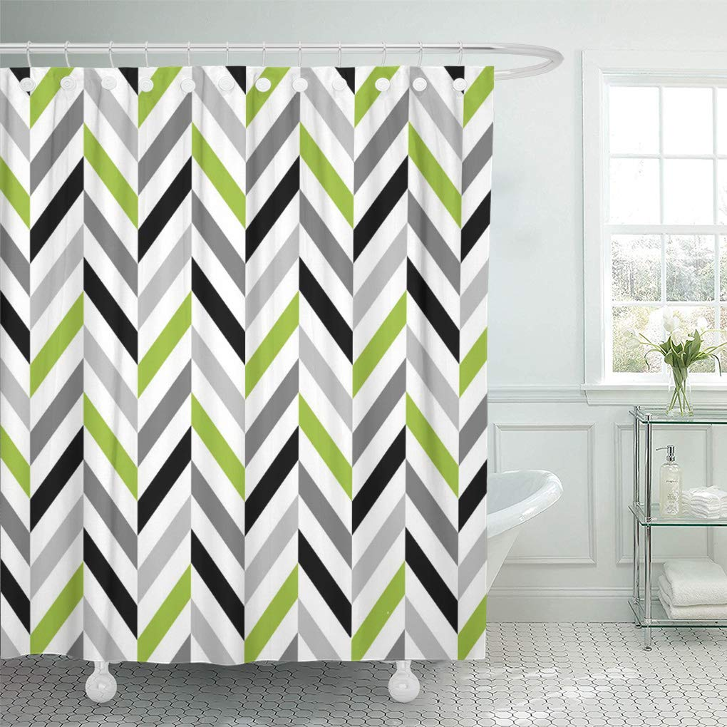 Cynlon Chic Modern Lime Green And, Lime Green Bathroom Decor