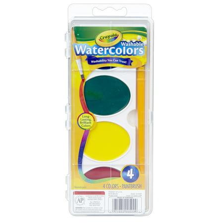 Jumbo Watercolor Set - Crayola® Jumbo Washable Watercolor Set, 4 colors, 6 Sets