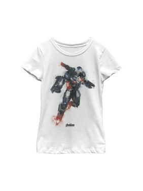 Marvel Girls' Avengers: Endgame War Machine Spray Paint T-Shirt