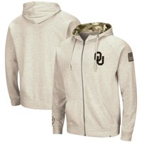 Oklahoma Sooners Colosseum OHT Military Appreciation Desert Camo Full-Zip Hoodie - Oatmeal