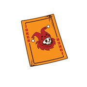 Notebook: Joker Gamer Card Game Dead Movie Fan Gift 120 Pages, 6X9 Inches, Blank