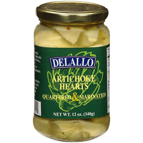 Delallo: Quartered & Marinated Artichoke Hearts, 12 Oz by Generic