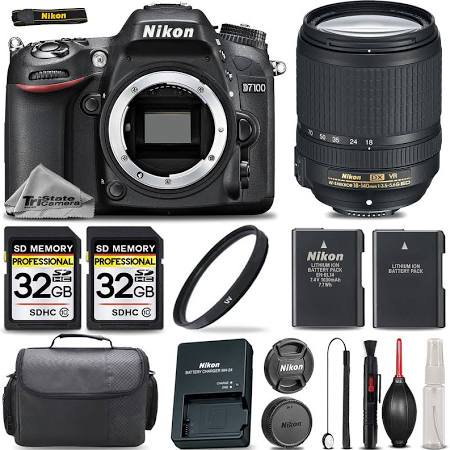 Nikon D7100 Digital SLR Camera 24.1MP with 18-140mm + Ultra Savings Bundle! NIKD71001814KKA