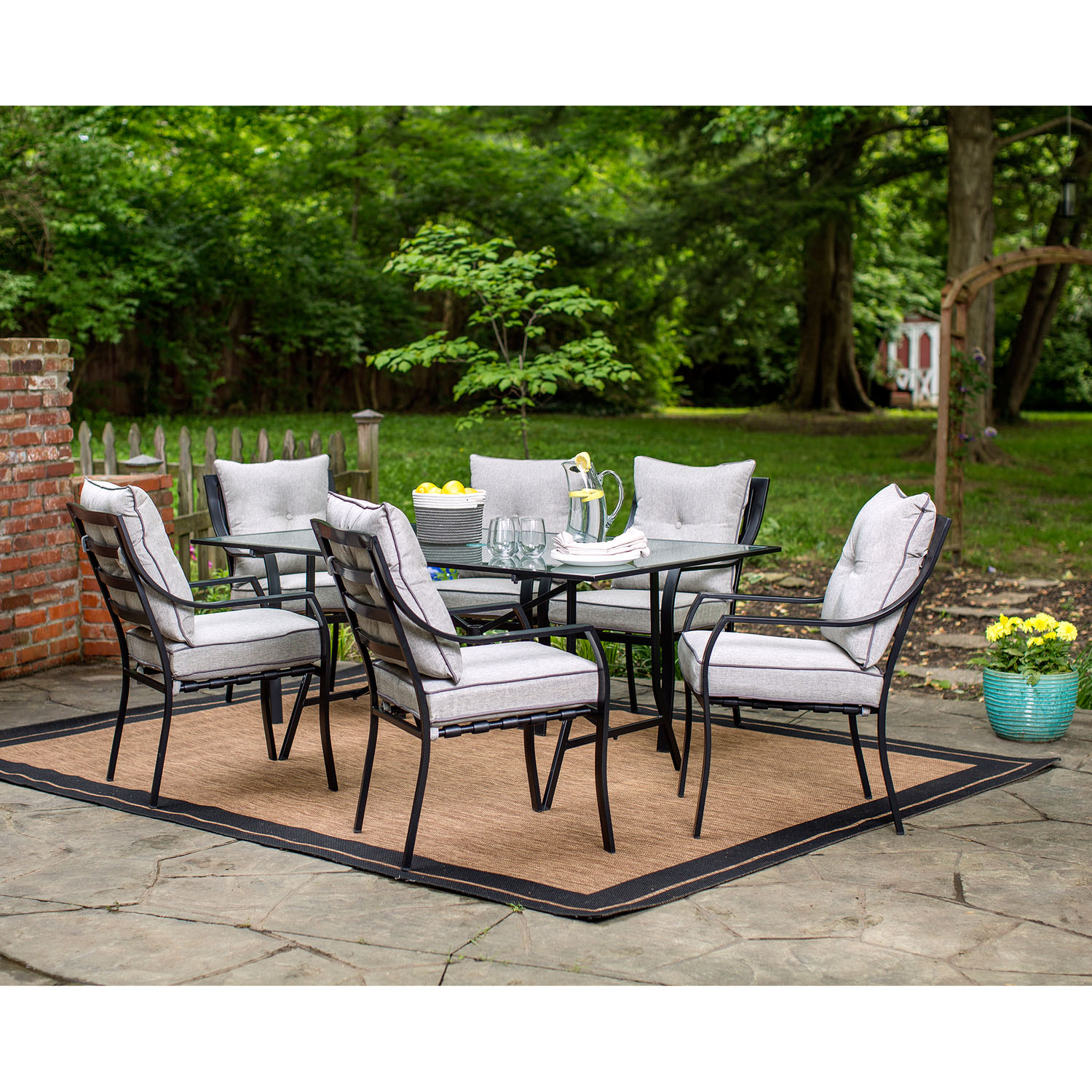 Hanover Lavallette 7-Piece Outdoor Dining Set