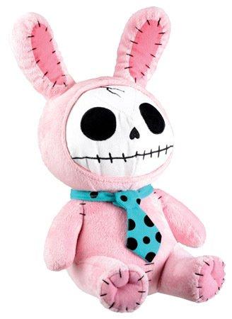 "Plush Furry Bones Pink Bunny Collectible Stuffed Animal Doll 12/""H 7.5/""L"
