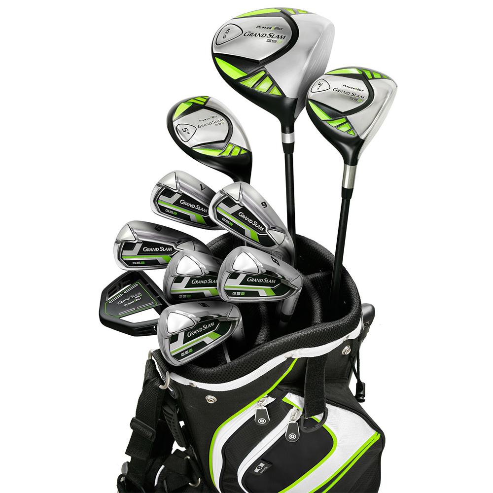 NEW PowerBilt Grand Slam GS2 Complete Golf Set Driver Iro...