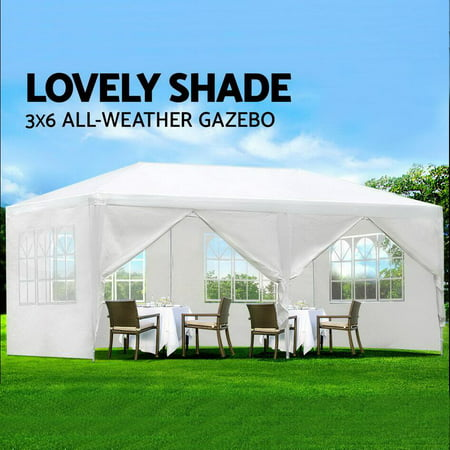 Zeny 10'x20' Outdoor Canopy Party Wedding Tent White Gazebo